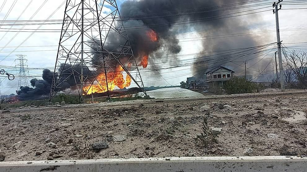 An explosion occurred in a natural gas pipeline in Orenburg Oblast, Russia.