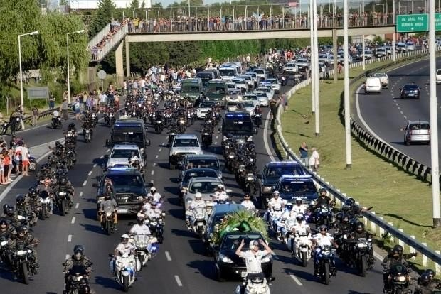 The presidential palace of Argentina held a farewell ceremony for Maradona's body.